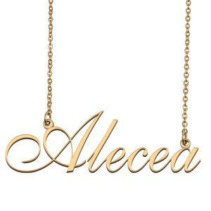 Custom Personalized Alecea Name Necklace